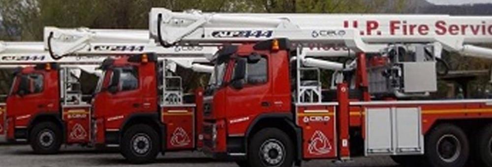 उत्तर प्रदेश फायर सर्विसेज मुख्यालय के लिए एसटीसी द्वारा आयातित 42 मीटर ऊंचा हाइड्रोलिक प्लेटफॉर्म